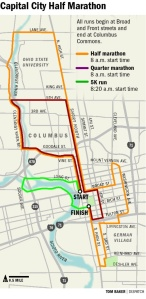 Capital City Half Marathon Route
