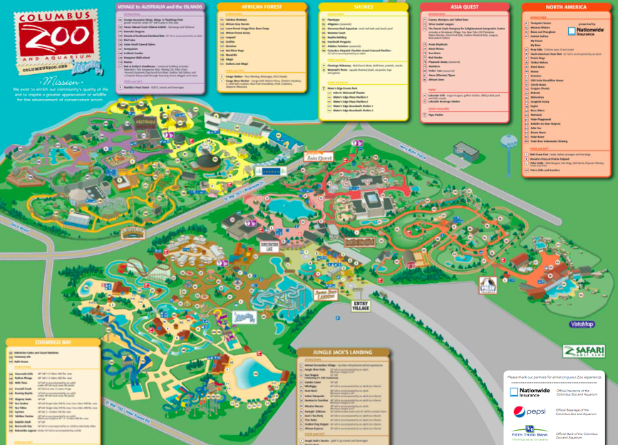 Gallery For Gt Columbus Zoo Map 2014