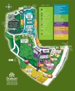 Dublin Irish Festival Map