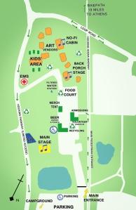 Nelsonville Festivlle Map